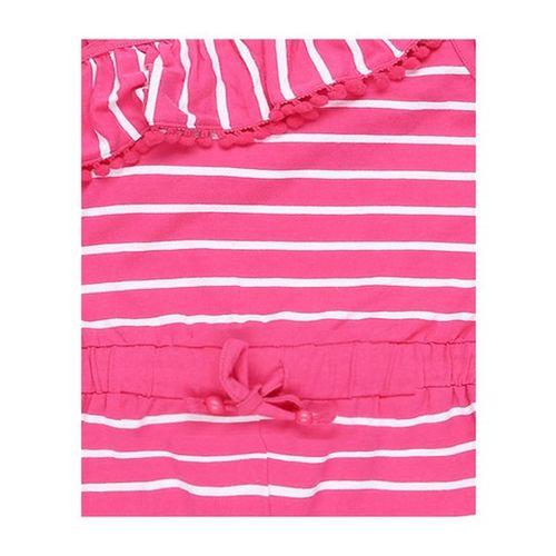 Pantaloons Junior Pink Striped Playsuit