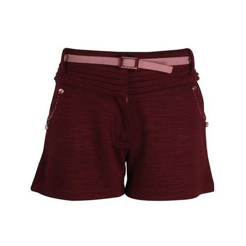 Cutecumber Kids Plum Textured Shorts With Belt