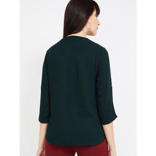 Bossini Women Green Solid Shirt Style Top