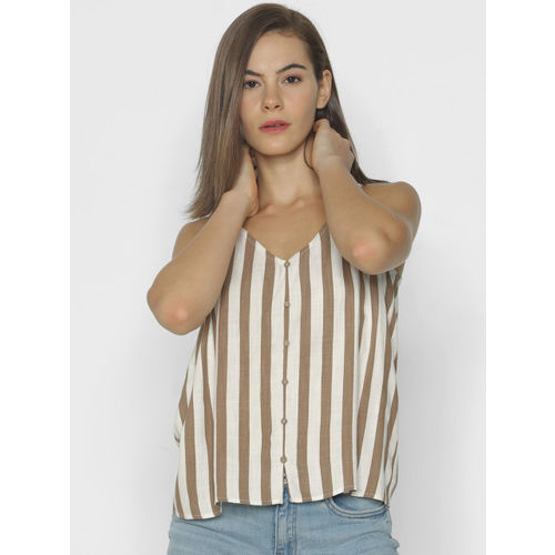 ONLY Women White Striped Top