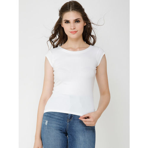 Cation Women White Solid Top