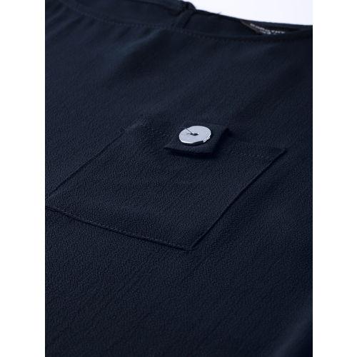 DOROTHY PERKINS Women Navy Blue Solid Top