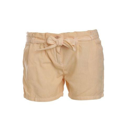 UFO Kids Cream Solid Shorts