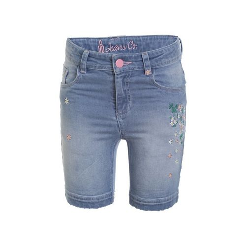 UFO Kids Blue Embroidered Shorts