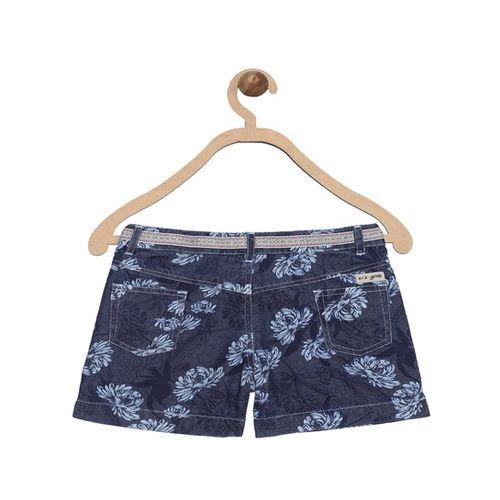 612 League Kids Navy Printed Shorts