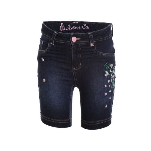 UFO Kids Dark Blue Embroidered Shorts