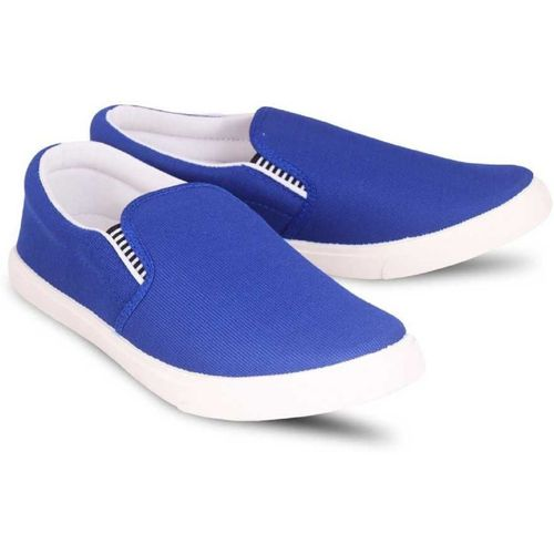 Absolute comfort LOAFER-WBLUEP Loafers For Men(Blue, White)