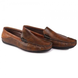 FAUSTO Party Loafers For Men(Brown)