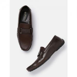 Mast & Harbour Men Brown Textured Horsebit Loafers