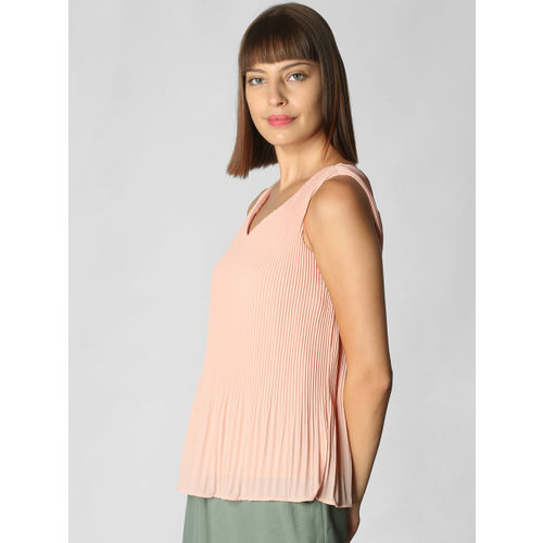 Vero Moda Women Rose Solid A-Line Top