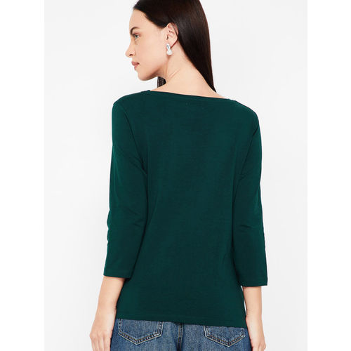 Bossini Women Green Solid Top