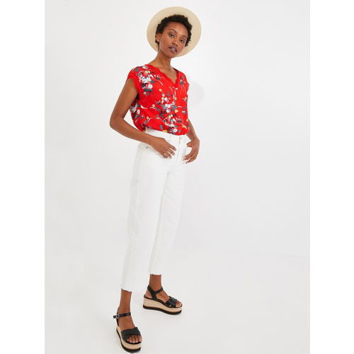 promod Women Red Printed Top