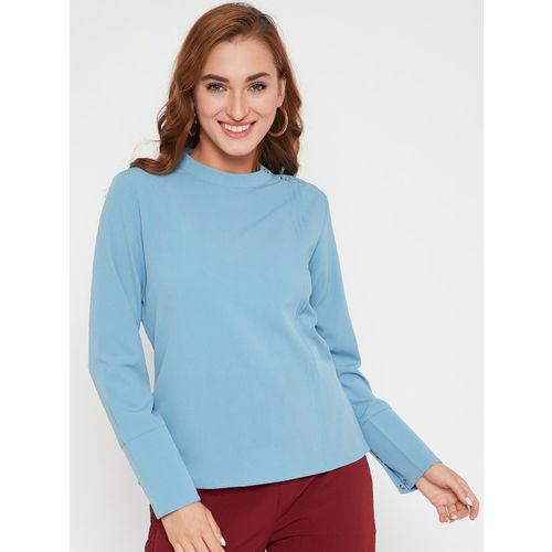 Carlton London Women Blue Solid Top