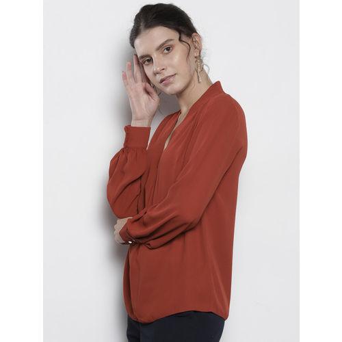 DOROTHY PERKINS Women Rust Red Solid Top