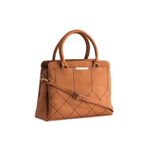 LEGAL BRIBE Tan Solid Handheld Bag