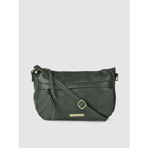 Caprese Green Solid Sling Bag