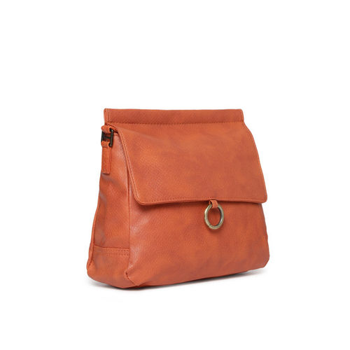 Baggit Orange Textured Sling Bag