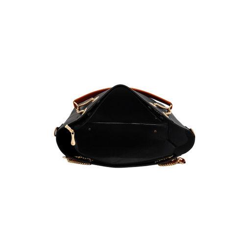 LaFille Black Pack of 5 Solid Handbags