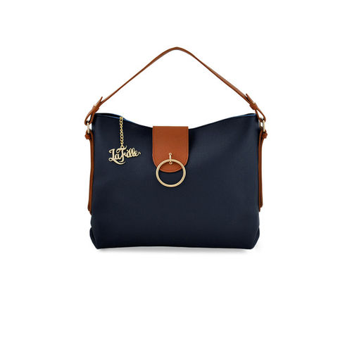 LaFille Blue Pack of 4 Solid Handbags