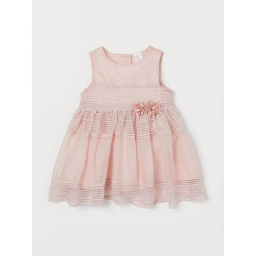 H&M Girls Pink Dress With Flowers