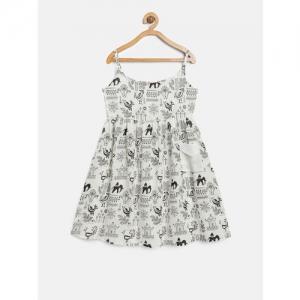Sangria Girls White A-Line Dress