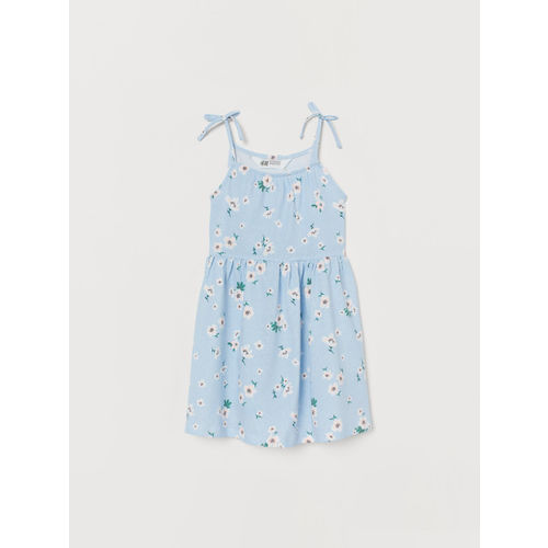 H&M Girls Blue Printed Jersey dress