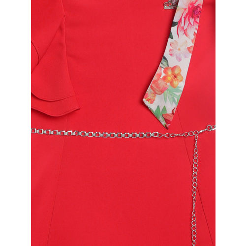 Peppermint Girls Red Fit and Flare Dress