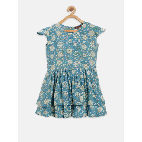 Sangria Girls Blue Fit and Flare Dress