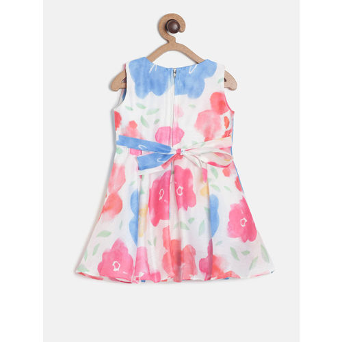 Peppermint Girls Multicoloured Printed Fit and Flare Dress