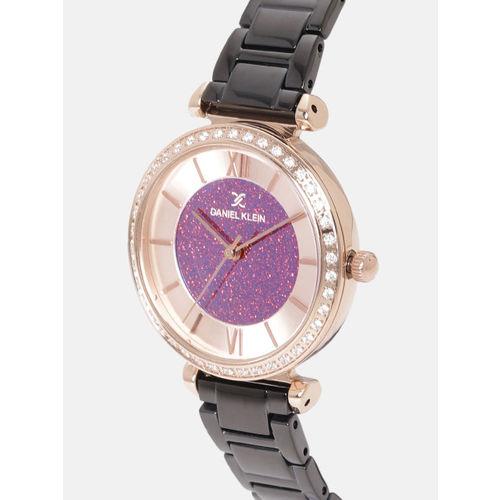 Daniel Klein Premium Women Pink & Rose Gold-Toned Analogue Watch 12042-5