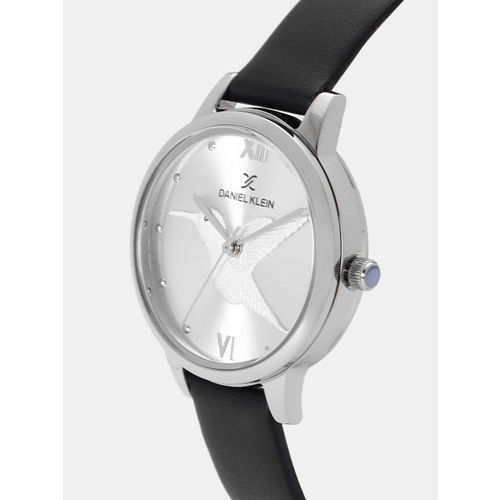 Daniel Klein Trendy Women Silver-Toned Analogue Watch 12045-1