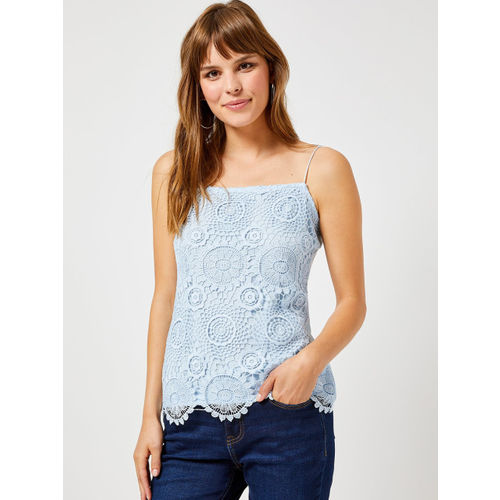 DOROTHY PERKINS Women Blue Lace Top