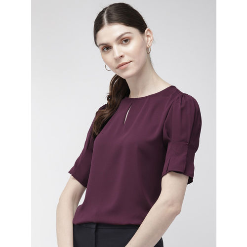 20Dresses Women Purple Solid Top