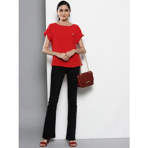DOROTHY PERKINS Women Red Solid Top