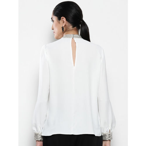 DOROTHY PERKINS Women White Solid Top
