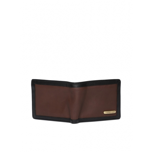 Hidesign Men Brown Leather Solid Two Fold Wallet