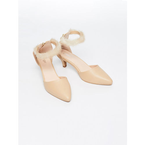 Ginger by Lifestyle Women Beige Mid-Top Pumps