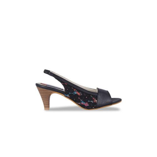 MSC Women Black Lace Heels