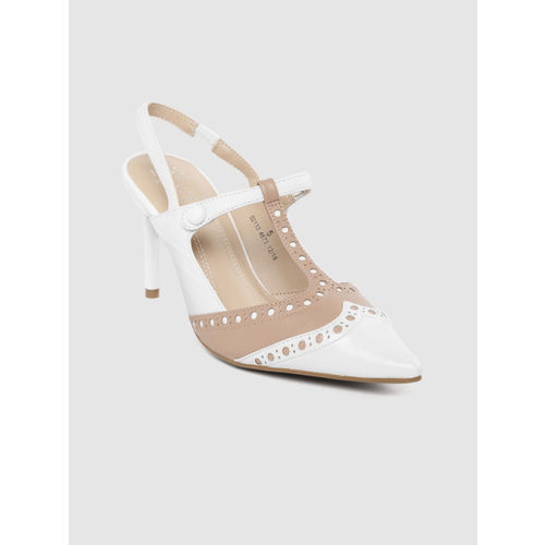 nice shoes first look where can i buy Buy Marks & Spencer Women White & Beige Colourblocked Leather ...