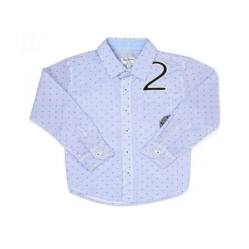 Pepe Jeans Kids Blue Printed Shirt