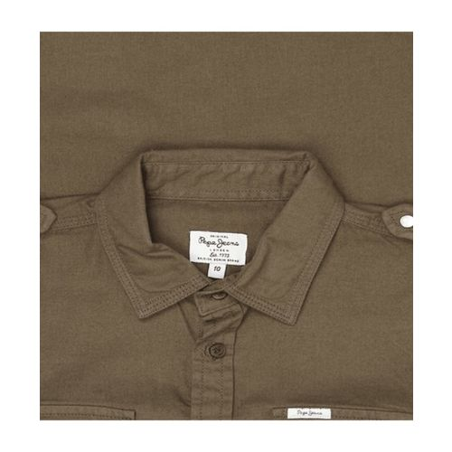 Pepe Jeans Kids Olive Solid Shirt