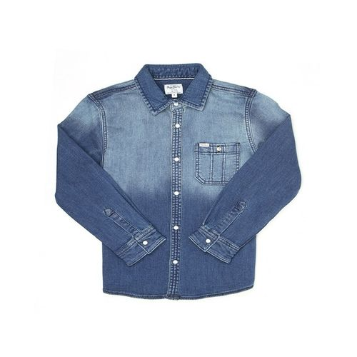 Pepe Jeans Kids Blue Solid Shirt