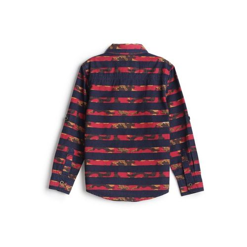 UFO Kids Navy Striped Shirt