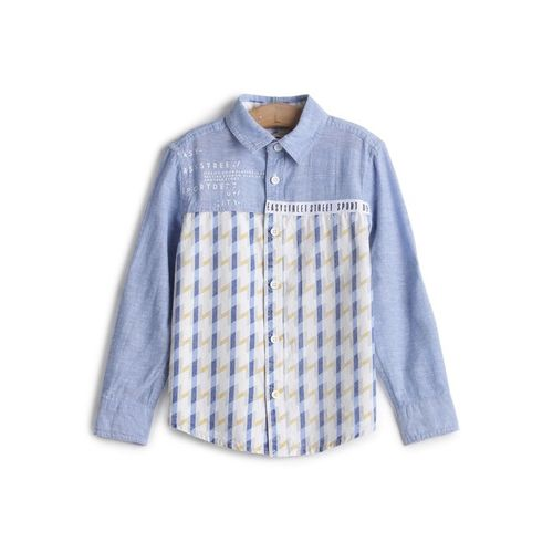 UFO Kids Blue Checks Shirt