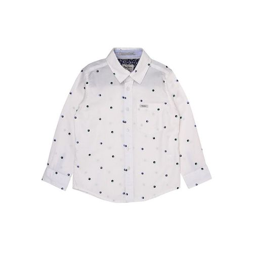 Pepe Jeans Kids White Printed Shirt