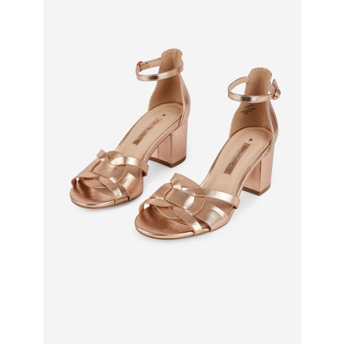DOROTHY PERKINS Women Rose Gold-Toned Solid Heels