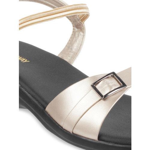 WALKWAY Women Gold-Toned Solid Heels