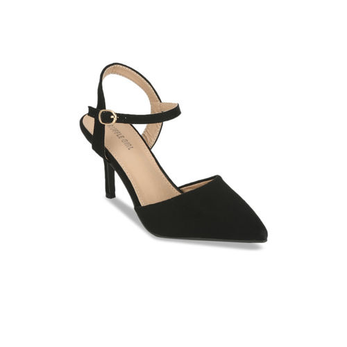 Truffle Collection Women Black Solid Pumps