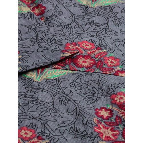 Anouk Women Grey & Red Printed A-Line Kurta