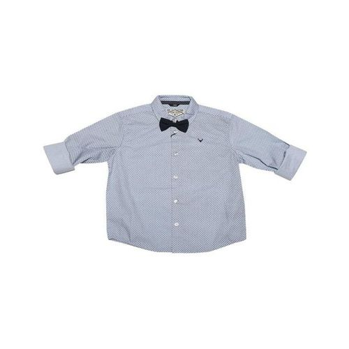 Allen Solly Junior Blue Checks Shirt With Bow